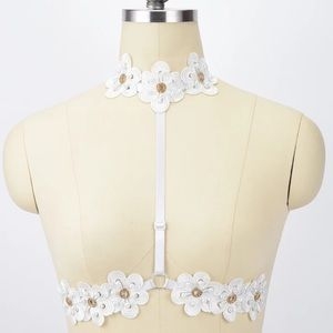 Other - 🌸Pretty Handmade Floral Lace Harness🌸